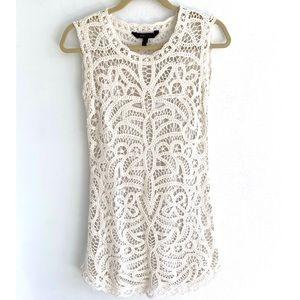 BCBG Crochet Lace Mini Dress